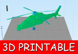 printable attack helicopter 3D model