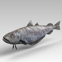 3D fish animal