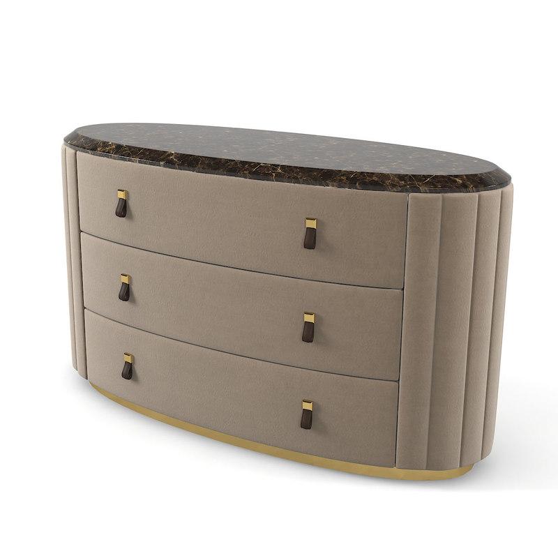 3D oval dresser sideboard model