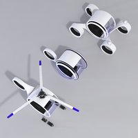 3D helicopter car buggy model