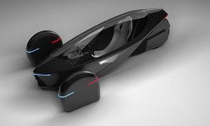 3D model design concept hybrid