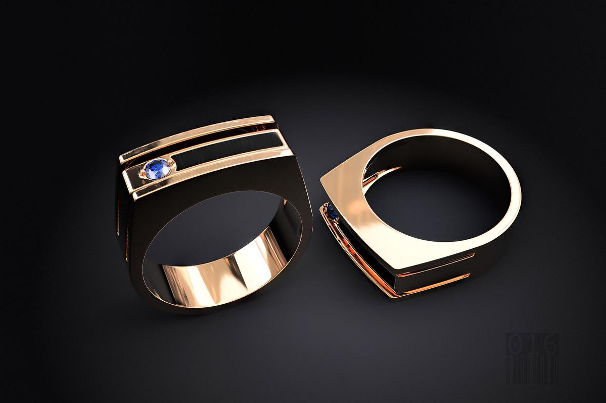 3D ring stone enamel