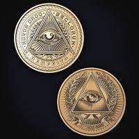 3D illuminati coin