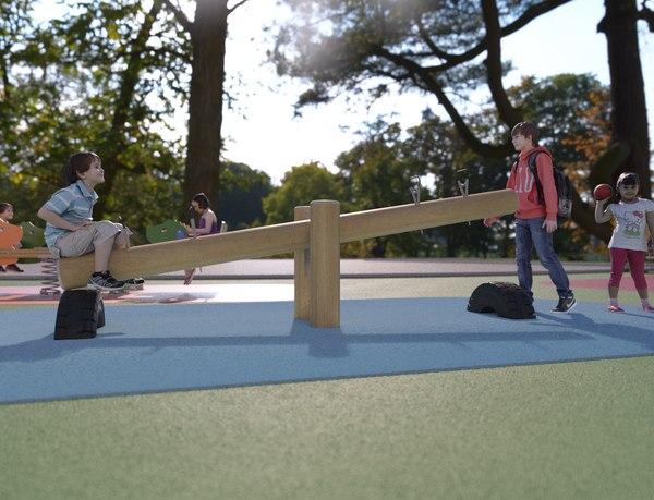 3D galopin b109b playground modeled