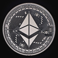 3D model ethereum coin