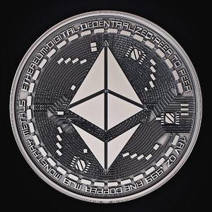 3D model ethereum coin
