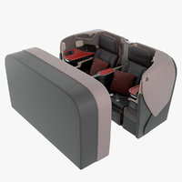 business airplane seat singapore 3D model