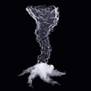 3D tornado smoke
