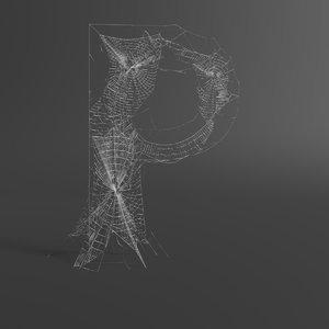 web letter p 3D model