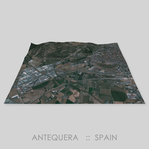 3D antequera dolmens site terrain
