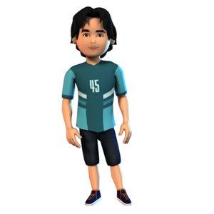 boy set f character 3D model