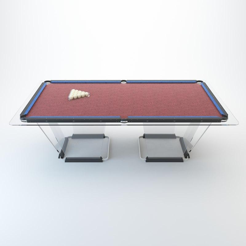 3D table teckell biliardo