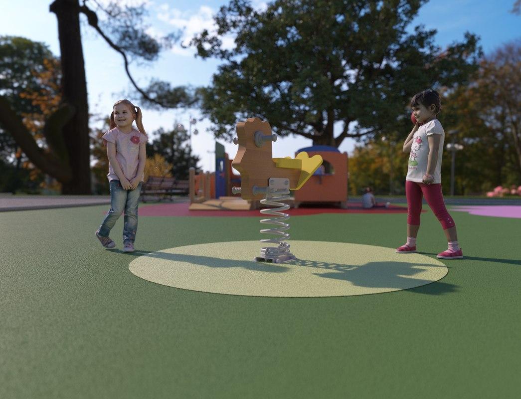 3D galopin playground model