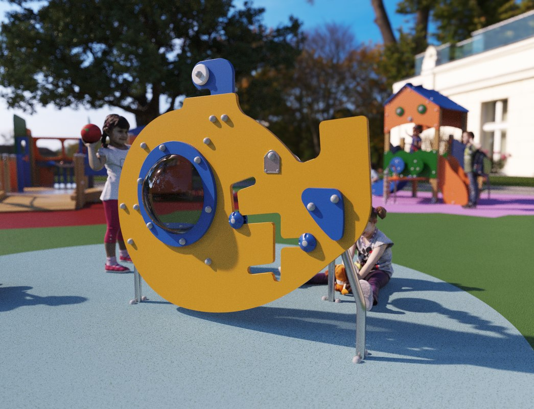 galopin fac15 playground modeled 3D model