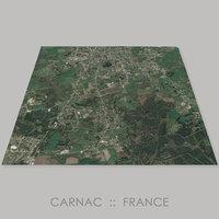 3D model carnac site megaliths terrain