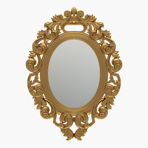 3D curved oval mirror