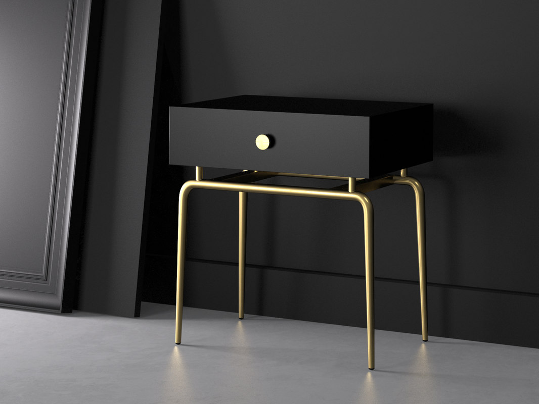 debourgeoisee bedside table 3D model