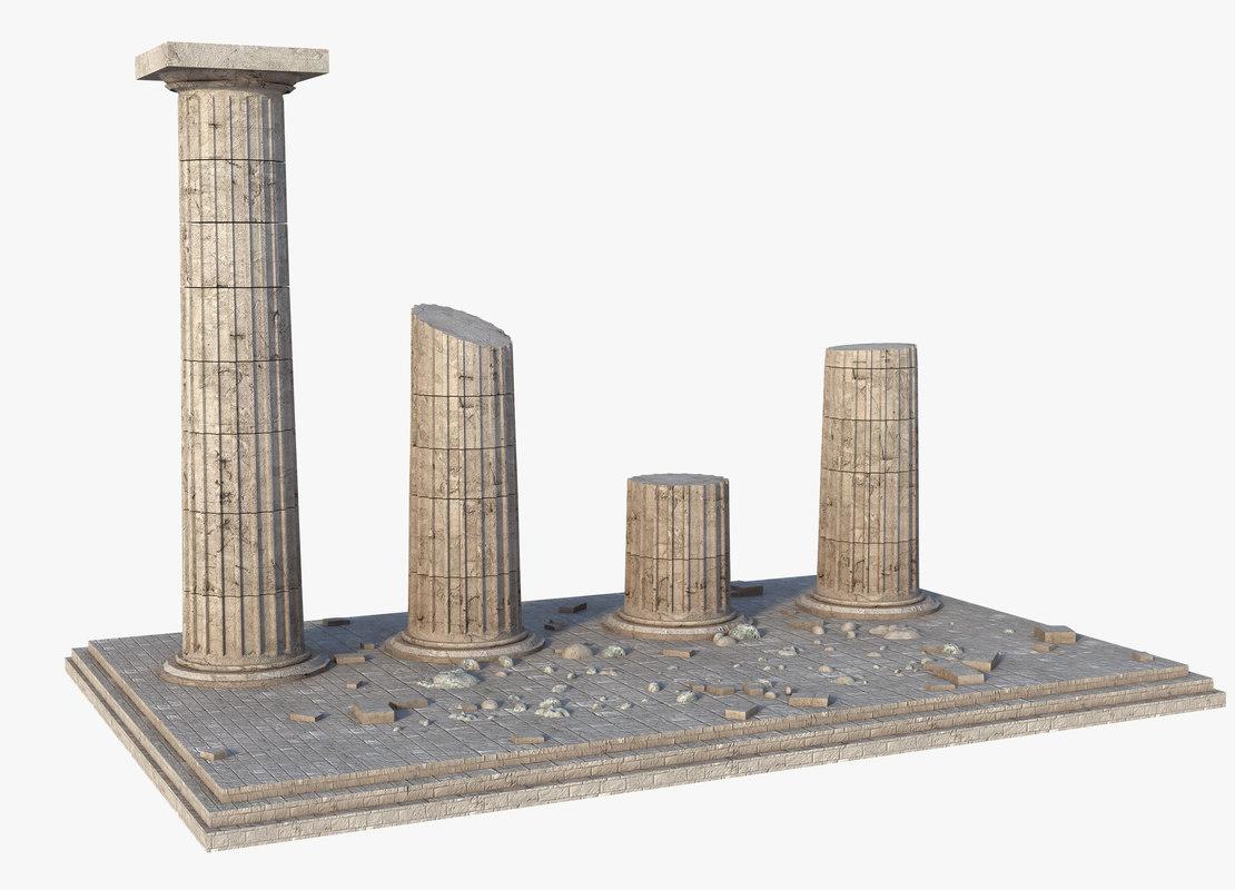 3D greek column