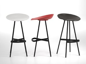 berretto bar stool 3D model