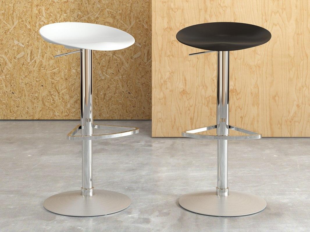 3D berretto bar stool telescopic model