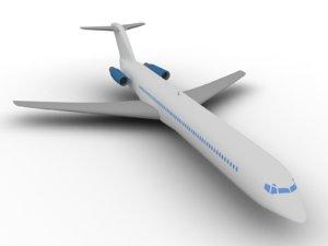 3D mcdonell douglas md-80 model