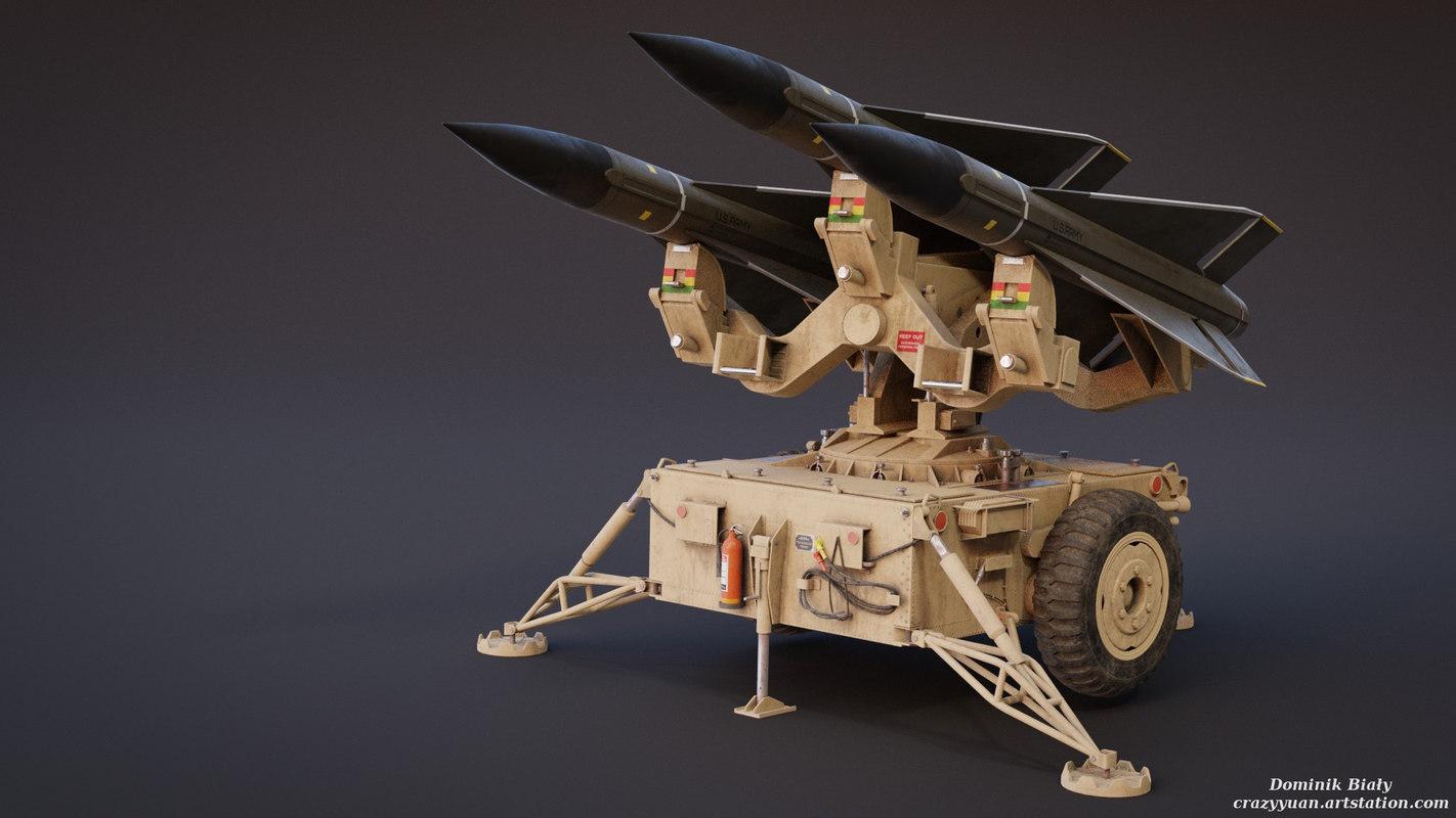 mim-23 hawk air asset 3D model