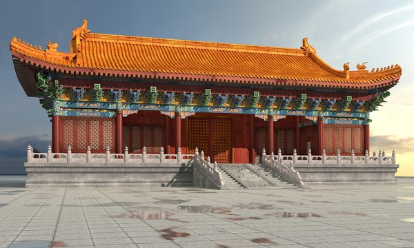 3D ancient chinese building model