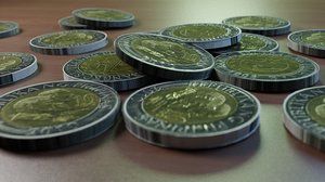 3D model philippines peso coin money
