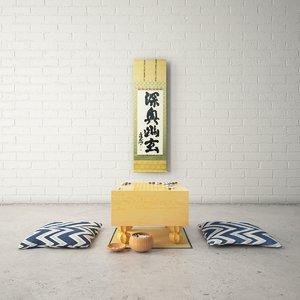 3D stones japanese model
