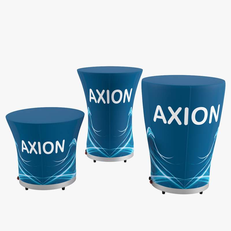axion table inflatable furniture 3D model