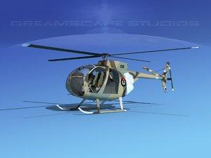 3D rotors hughes oh-6 cayuse