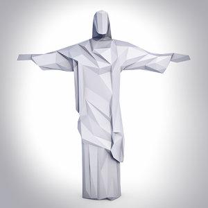 3D christ redeemer model