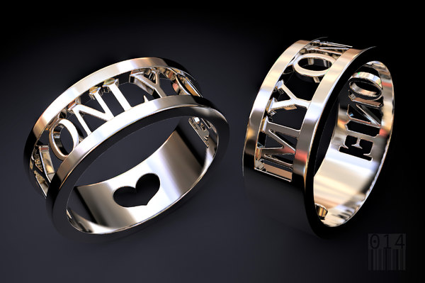 3D ring stl print model