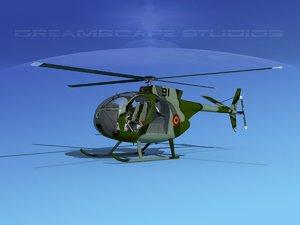 rotors hughes oh-6 cayuse 3D