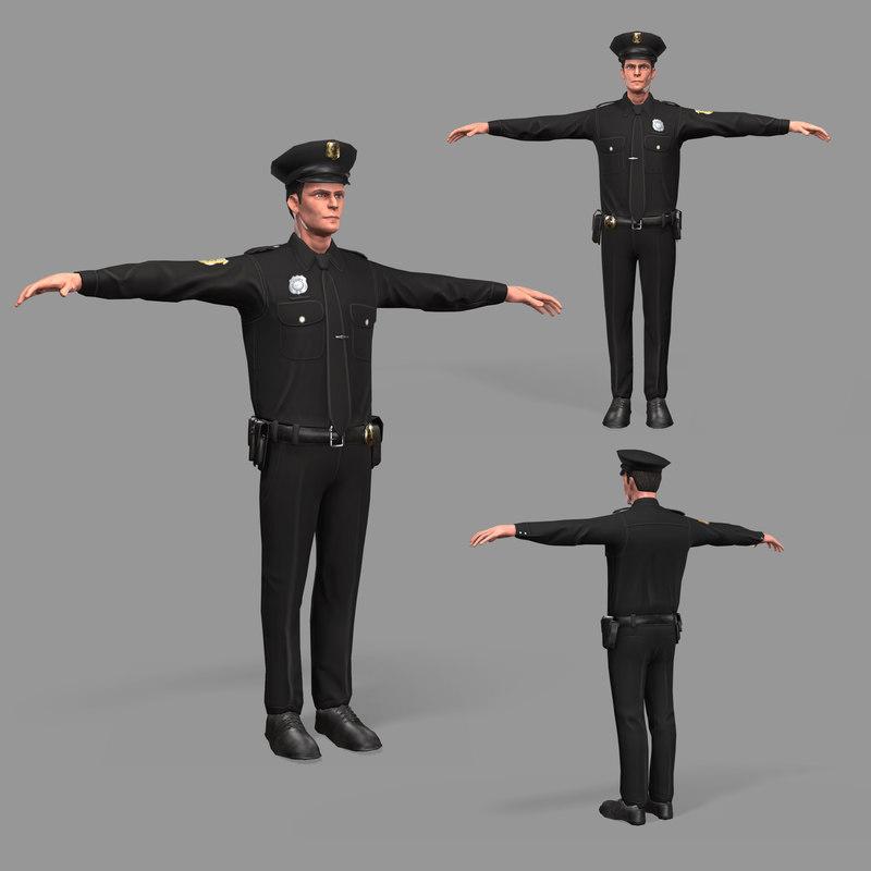 3D pbr police model