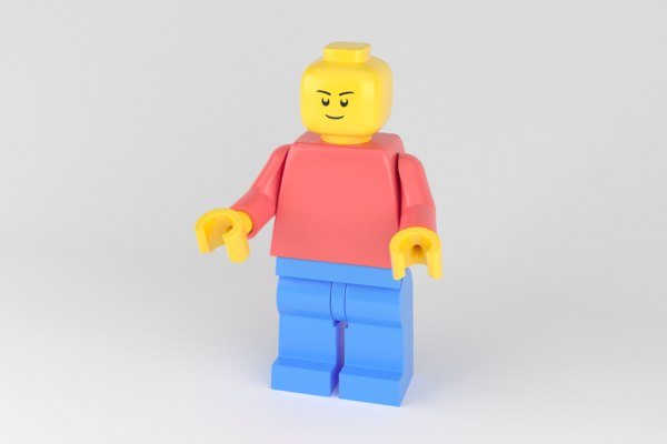3D model lego person
