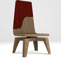 3D wooden chair 1