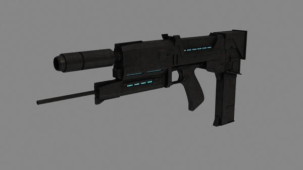 3D plasma rifle t-800 model