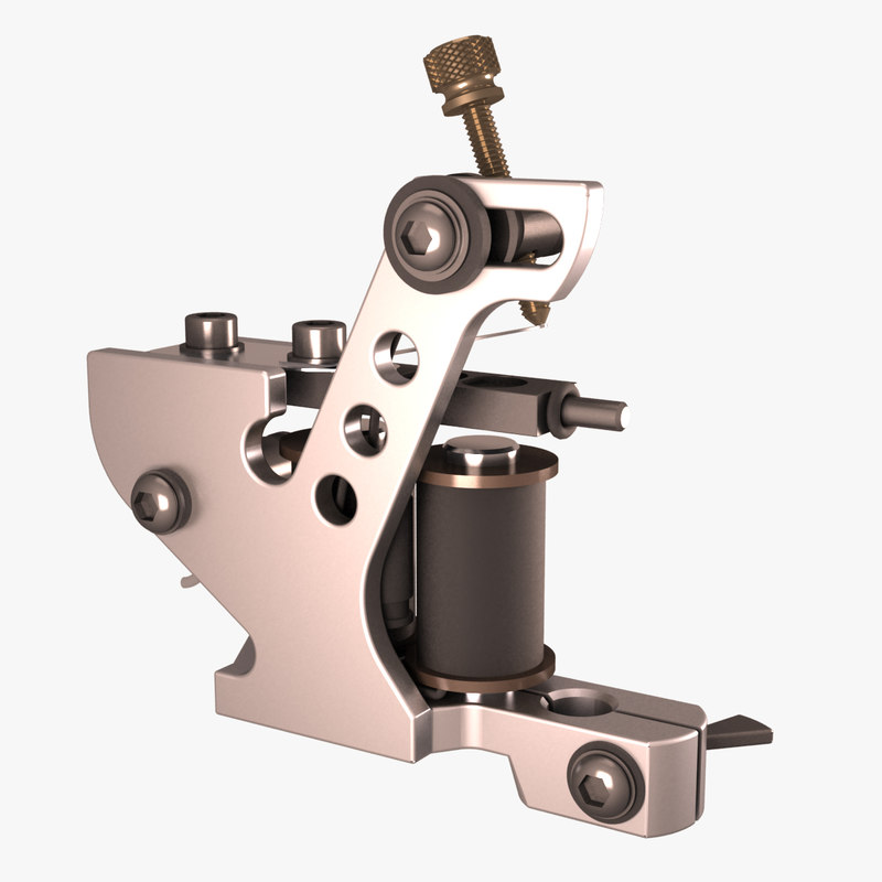 tattoo machine 3D model