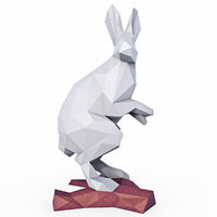 3D hare pepakura