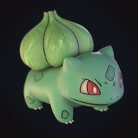 3D bulbasaur pokemon model