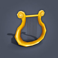 Greek Harp (low poly)