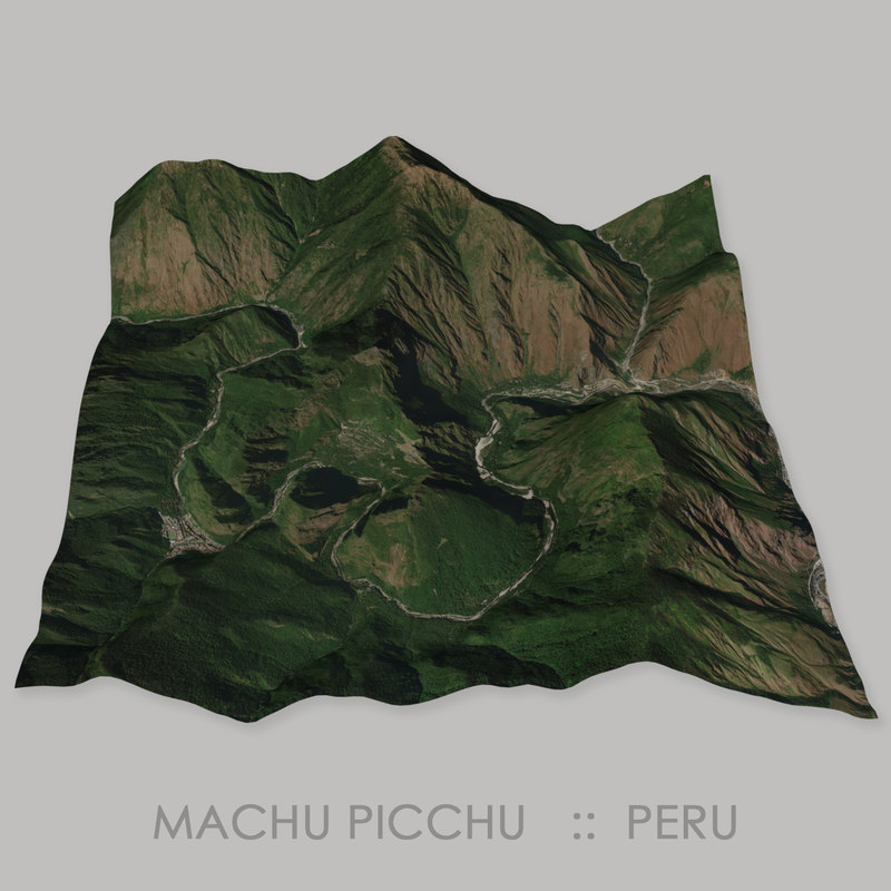 3D machu picchu site megalithic