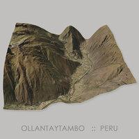 3D model ollantaytambo inca archaeological terrain