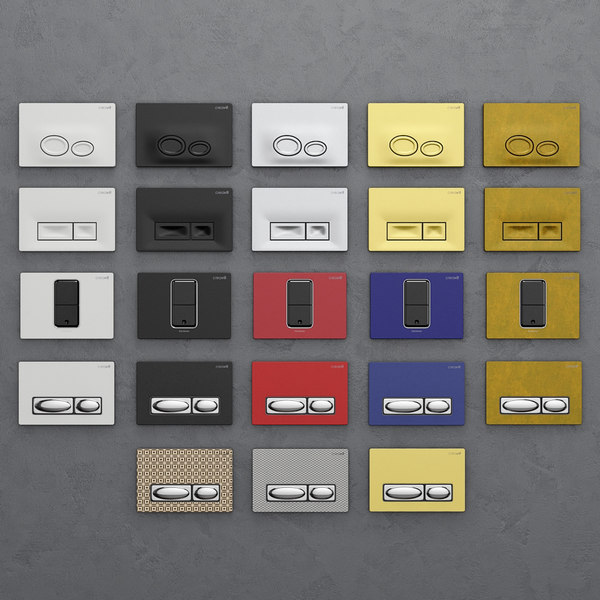 set buttons installation creavit 3D model