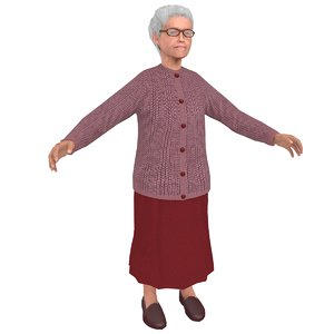 old woman 3D