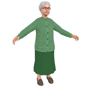 old woman 3D model