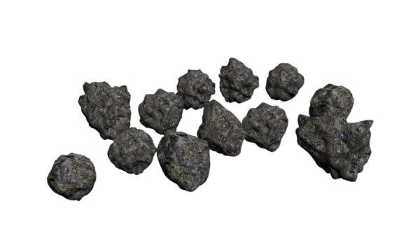 3D bunch rocks model