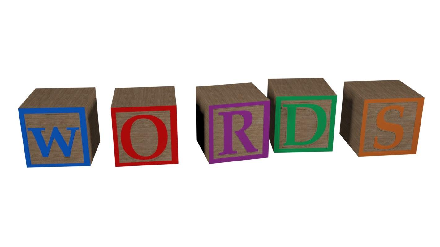 blocks w o r 3D model