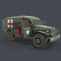 Military ambulance Dodge WC54 3d model